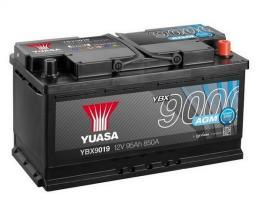 Yuasa YBX9019 - Batería AGM Start Stop Plus Yuasa