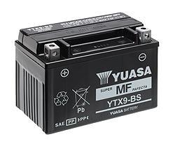 Yuasa YTX9BSCP - Batería  moto YTX7L-BS Yuasa 6 Ah Maintenance Free
