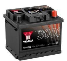 Yuasa YBX3063 - Batería Turismo  45AH 425A 12V + dcha