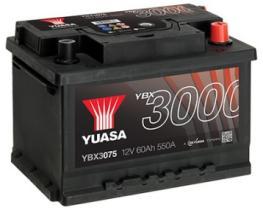 Yuasa YBX3075 - Batería Turimo  60AH 550A 12v + Dcha