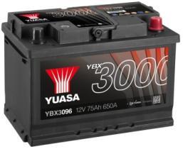 Yuasa YBX3096 - Batería turismo 75 Ah  650A  12V + Dcha